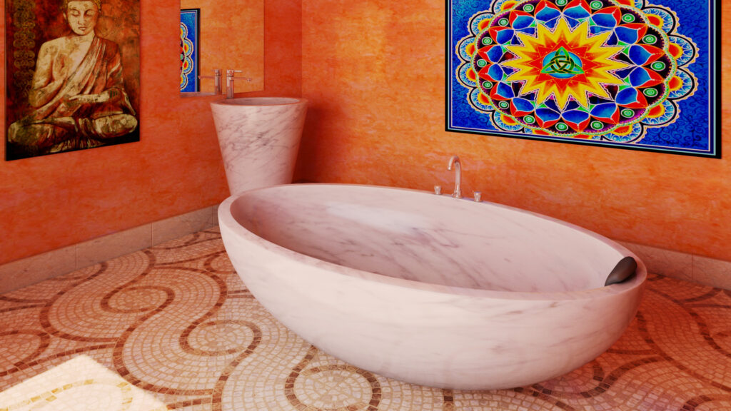 infografia 3d cuarto de baño