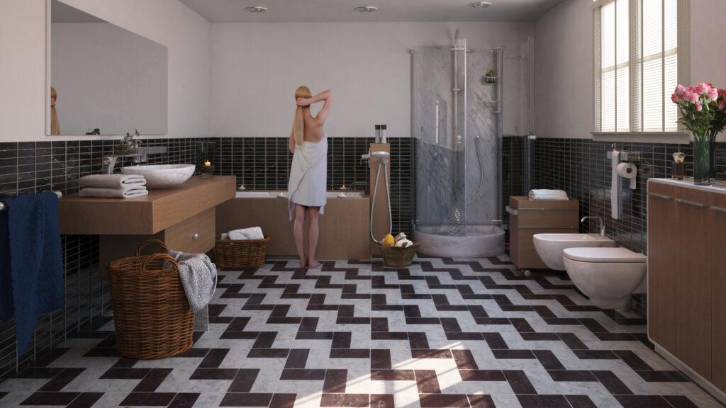 infografia 3d interiores baño