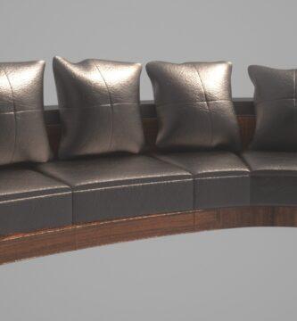 Modelado de sofá en 3d