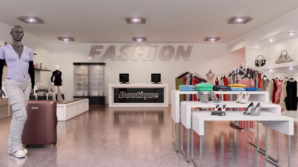 Infografia 3D Boutique de moda