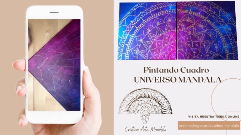 Pintando Cuadro Universo Mandala